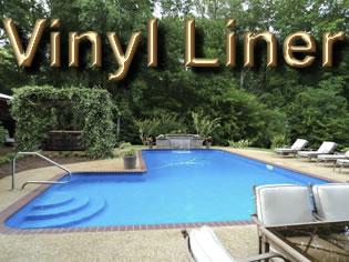 Vinyl Liner Pool Designs photo of vinyl liner pool with paver brick coping Vinyl Liner Pools